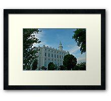 St. George Utah LDS Temple Framed Print