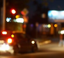 Blur and defocused lights from the headlights of cars by vladromensky