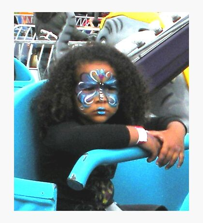 """""""Not Happy on Carnival Ride"""" Photographic Print"""