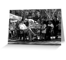 Garden Games @ Kings Cross Markets.  A Black & White Moment Greeting Card