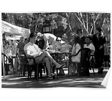 Garden Games @ Kings Cross Markets.  A Black & White Moment Poster