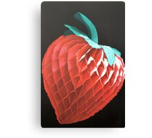 Paper Strawberry Canvas Print