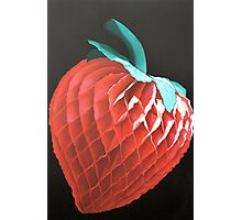 Paper Strawberry Photographic Print