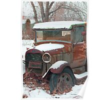 Old Truck, Montana photo Donna Ridgway Poster