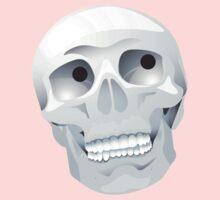 White skull looking up Baby Tee