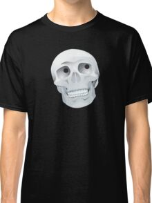 White skull looking up Classic T-Shirt
