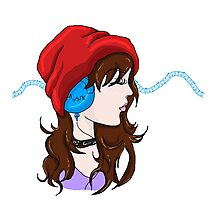 Red Hat and Music Photographic Print