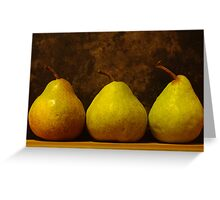 three juicy pears Greeting Card