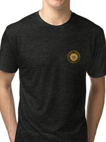 Navy emblem tshirt sm Tri-blend T-Shirt