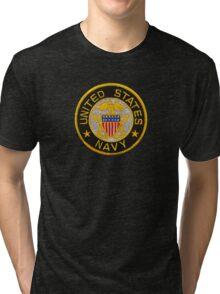 Navy Emblem T-Shirt Tri-blend T-Shirt