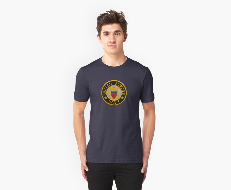 Navy Emblem T-Shirt by Walter Colvin
