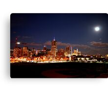 Full Moon over Downtown Denver Skyline  Canvas Print
