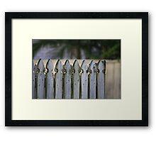 Picket Fence Framed Print