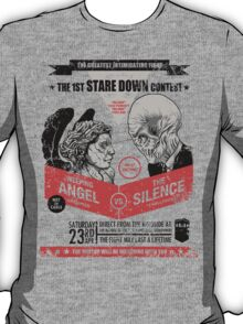 Stare Down Contest/ You'll Miss Me if You Blink Twice T-Shirt