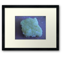 Mashed Garlic Framed Print
