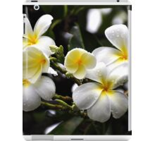 DEW DROPS ON FRANGIPANI iPad Case/Skin