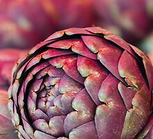 artichokes at the market by spetenfia