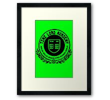 Time Lord Academy Framed Print