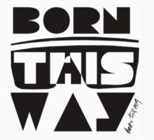 Lady gaga born this way - t shirt  by Scott Barker