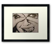 Cheeky Smiles Framed Print