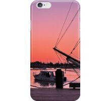 Sunset at port iPhone Case/Skin