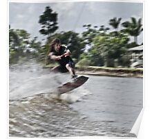 The Dreadlocked Wakeboarder Poster