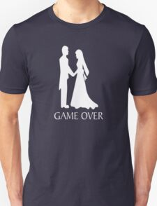 Humor Funny Tee Graphic T Shirt Game Over Wedding T-Shirt