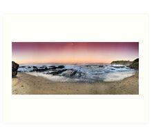 orange sunset-Red head-NSW Mid North Coast Art Print