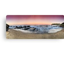 orange sunset-Red head-NSW Mid North Coast Canvas Print