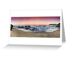 orange sunset-Red head-NSW Mid North Coast Greeting Card