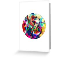 Psychedelic Circle Greeting Card