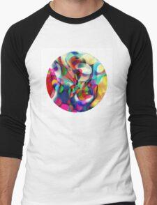 Psychedelic Circle Men's Baseball ¾ T-Shirt