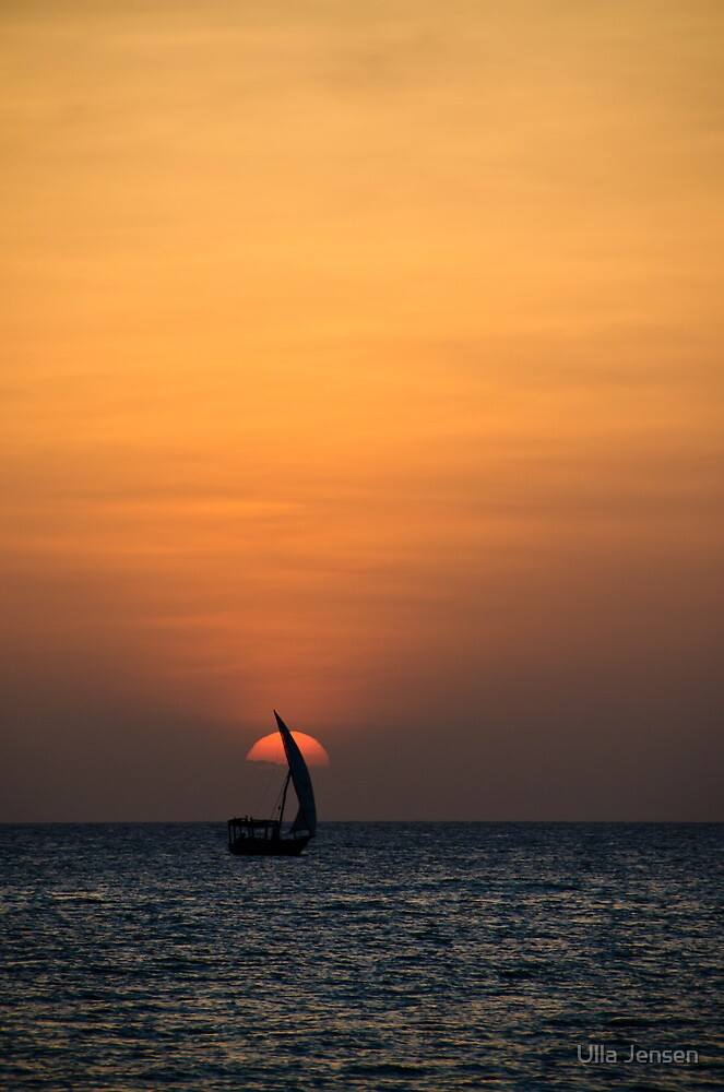Setting over the African Continent by Ulla Jensen