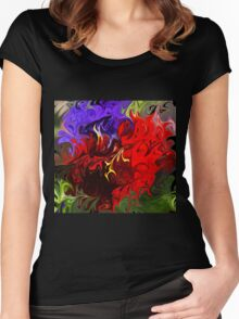 Pansies Abstract Women's Fitted Scoop T-Shirt