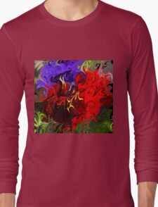 Pansies Abstract Long Sleeve T-Shirt