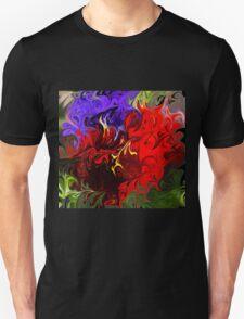 Pansies Abstract T-Shirt