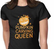 Pumpkin carving QUEEN! Halloween cute  Womens Fitted T-Shirt