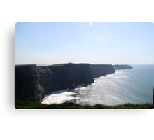Surf at the Cliffs of Moher Canvas Print
