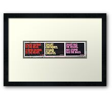 Adverstising (and religions) I - Pernicious evils Framed Print