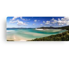 Whitehaven beach panorama Canvas Print