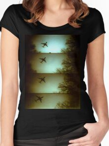 Lomo Plane Women's Fitted Scoop T-Shirt