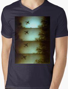 Lomo Plane Mens V-Neck T-Shirt