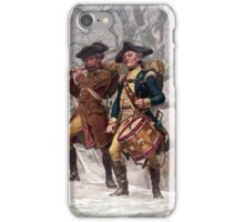 Revolutionary War Soldiers Marching  iPhone Case/Skin
