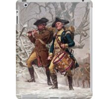 Revolutionary War Soldiers Marching  iPad Case/Skin