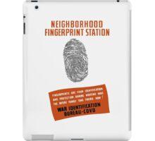 WPA -- Neighborhood Fingerprint Station iPad Case/Skin