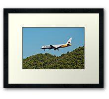 Monarch Boeing 757, Skiathos island Framed Print