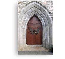 Drumcliffe Church Doors Canvas Print