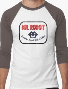 Mr Robot - Computer Repair With A Smile Men's Baseball ¾ T-Shirt