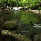 Smoky Mountain Waterfall by KatsEyePhoto