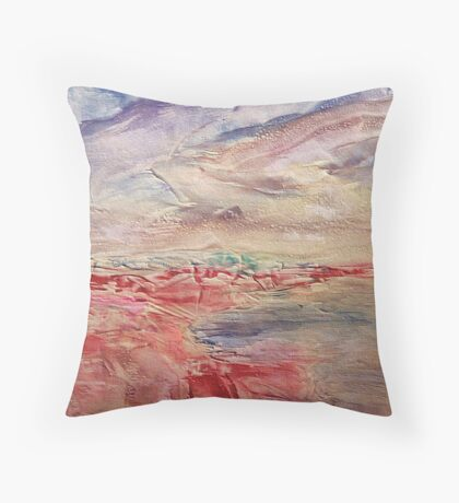 Island Cres - Adriatic sea Throw Pillow